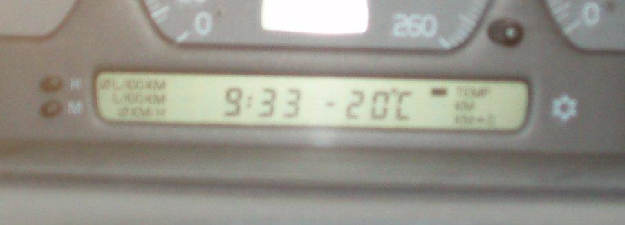 minus 20 grader ...