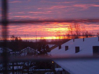 solnedgång ...