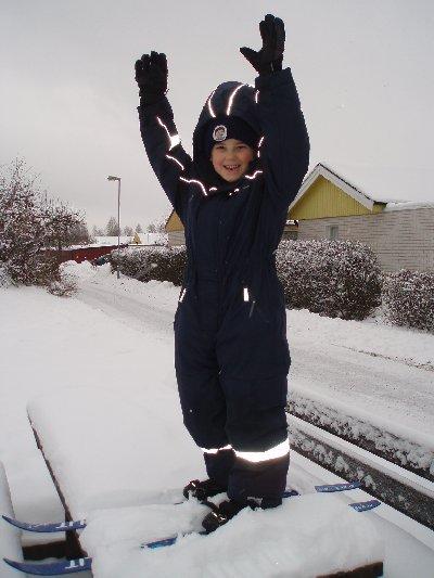 Emanuel - nya skidor