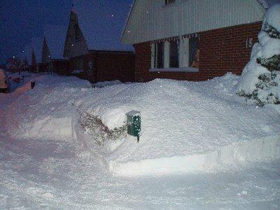 mycket snö ...