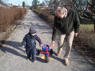 Jonatan och morfar ...