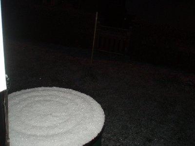 Första snön 22/10 ...