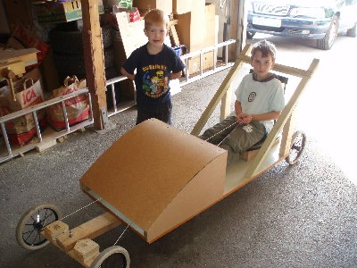 vi bygger en lådbil ...